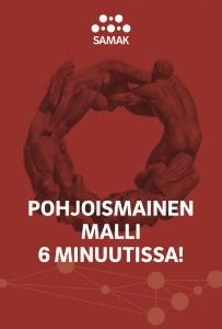 Forside på den finske versjonen av kompednidet Den Nordiske modellen på 6 minutter.