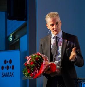 SAMAKs leder Jonas Gahr Støre på SAMAKs årsmøte